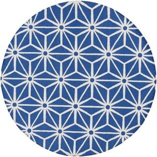 Hand-Woven Bungay Geometric Wool Rug (8' Round)
