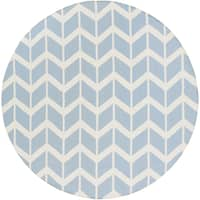 Hand-Woven Bruton Chevron Wool Area Rug