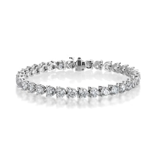 SummerRose 18k White Gold 13 4/5ct TDW Diamond Tennis Bracelet (I-J, VS1-VS2)