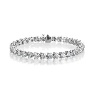 SummerRose 18k White Gold 13 4/5ct TDW Diamond Tennis Bracelet