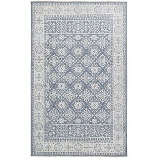 Hand-Knotted Orford Border Wool Rug (2' x 3')