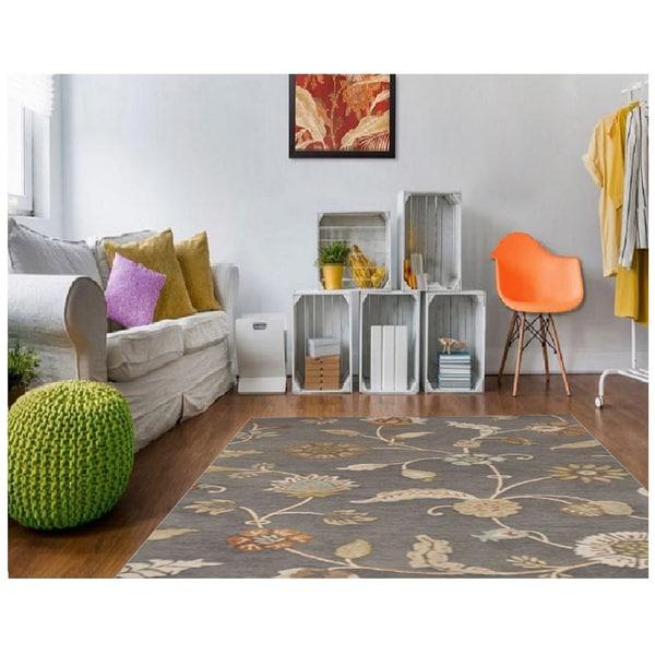 Copper Grove Effie Hand-tufted Floral Indoor Area Rug