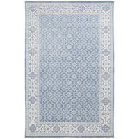 Hand-Knotted Vivienne Moroccan Trellis Wool Area Rug