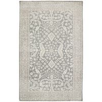 Hand-Knotted Whitford Floral Wool Area Rug - 8' x 11'