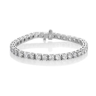 SummerRose 14k White Gold 12 1/5ct TDW Diamond 4-prong Tennis Bracelet