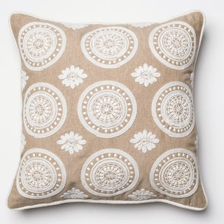 Furniture of America Beige Tribal Print Decorative Throw Pillow