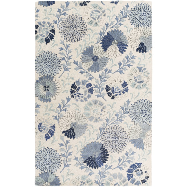 Hand-Tufted Faye Floral New Zealand Wool Area Rug