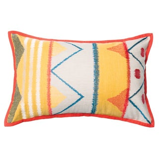 Furniture of America Geometric Tribal Accent Throw Pillow