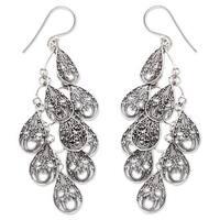 Handmade Sterling Silver 'Raindrops' Earrings (Indonesia)