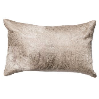 Furniture of America Textured Beige Swirl Accent Throw Pillow
