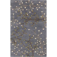 Hand-Tufted Ace Contemporary Wool Area Rug - 2' x 3'