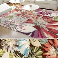 Rug Squared Laurel Floral Print Area Rug (3'6 x 5'6)