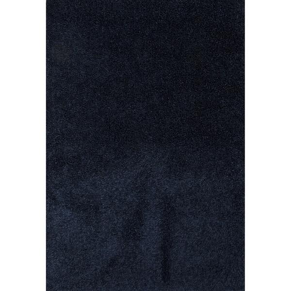 Shop Shag Solid Pattern Blue Blue 5x7 6 Area Rug 5 X