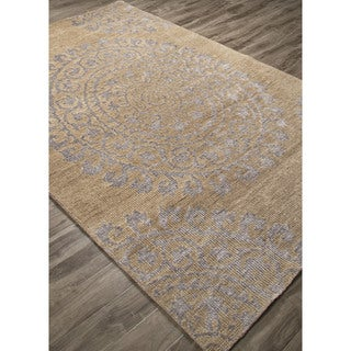 Hand-Knotted Floral Pattern Ivory\Brown (5x8 ) Area Rug