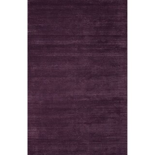 handmade solid purple area rug 5u0027 x