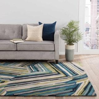 Barnum Handmade Abstract Multicolor Area Rug (5' X 8') - 5' x 8'