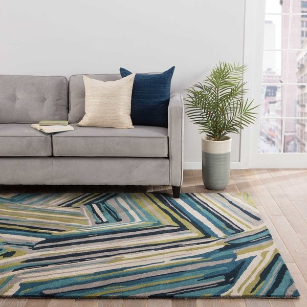 Barnum Handmade Abstract Multicolor Area Rug - 5' x 8'