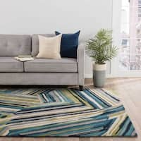 Barnum Handmade Abstract Multicolor Area Rug (5' X 8') - 5' x 8'