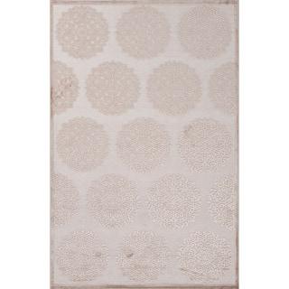 Machine Made Oriental Pattern Ivory\Brown (5x7.6) Area Rug