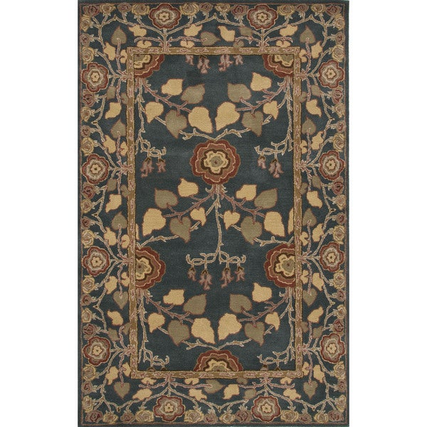 Hand-Tufted Arts And Craft Pattern Blue\Blue (5x8) Area Rug