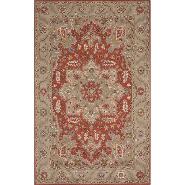 5x8 Hamadan Authentic Rugs Deals Direct Handmade Persian: Hand-Tufted Oriental Pattern Red\Brown (5x8) Area Rug