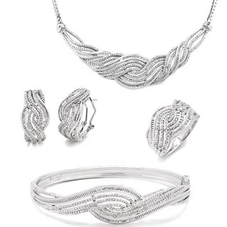 Divina Rhodium-plated 1ct TDW Diamond 4-piece Jewelry Set (I-J, I2-I3)