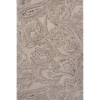 Hand-Tufted Floral Pattern Ivory\Gray (8x11 ) Area Rug