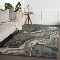Granite Handmade Abstract Gray/ Brown Area Rug (8' x 10')