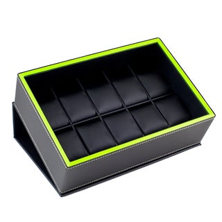 Caddy Bay Collection Flip-top Display 10-watch Storage Box