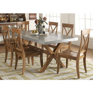Keaton Maple/ Zinc 7-piece Dinette Set