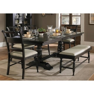 Black Cherry Traditional 6-piece Dinette Set