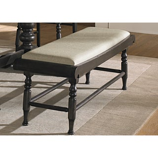 Black Cherry Traditional Upholstered Bench