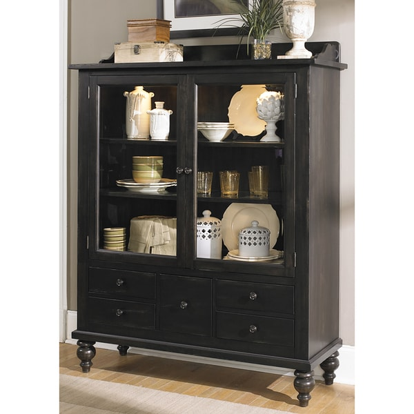Liberty Black Cherry Traditional Display Cabinet