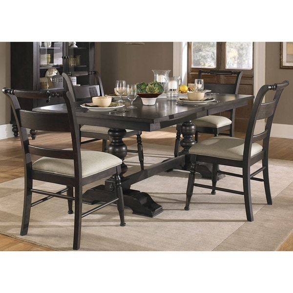 Black Cherry Traditional 5-piece Dinette Set