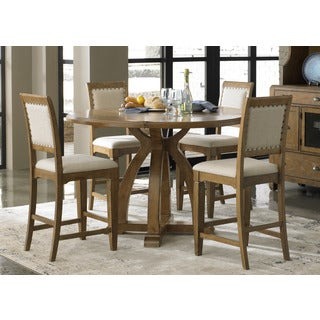 Town and Country Transitional Gathering Table - Brown