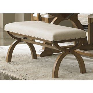 Town and Country Transitional Upholstered Bench