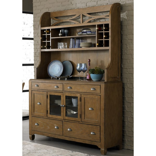 Shop Liberty Town And Country Transitional Buffet And Hutch   On Sale    Free Shipping Today   Overstock.com   10003270