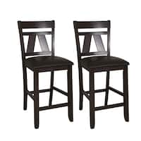 Expresso Two-tone Transitional Bonded Leather Dining Chair