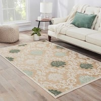 Maison Rouge Charlotte Damask Beige/ Green Area Rug (9' x 12')