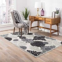 "Florence Medallion Gray/ Silver Area Rug (7'6"" x 9'6"")"