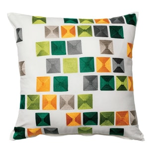 Furniture of America Gems Abstract Color Block 18-inch Decorative Throw Pillow