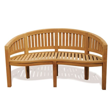 Handmade D-Art Island Original Naturally Finished Teak Wood Bench (Indonesia)
