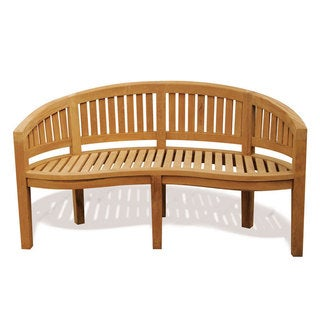 D-Art Island Original Naturally Finished Teak Wood Bench (Indonesia)