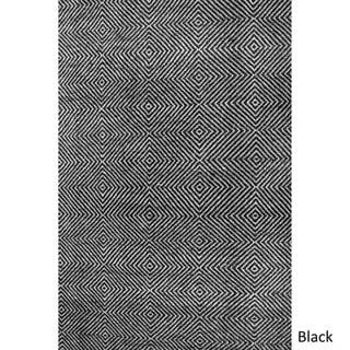 "nuLOOM Handmade Concentric Diamond Trellis Wool/ Cotton Rug (8'6 x 11'6"")"