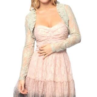 Sara Boo Women's Sheer Lace Bolero (Small)