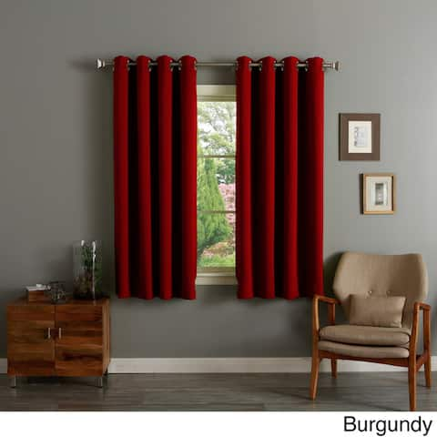 Aurora Home Silver Grommet Top 63-inch Blackout Curtain Pair - 52 x 63 - 52 x 63