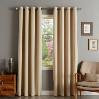 Aurora Home Silver Grommet Top Thermal Insulated 84-inch Blackout Curtain Panel Pair - 52 x 84