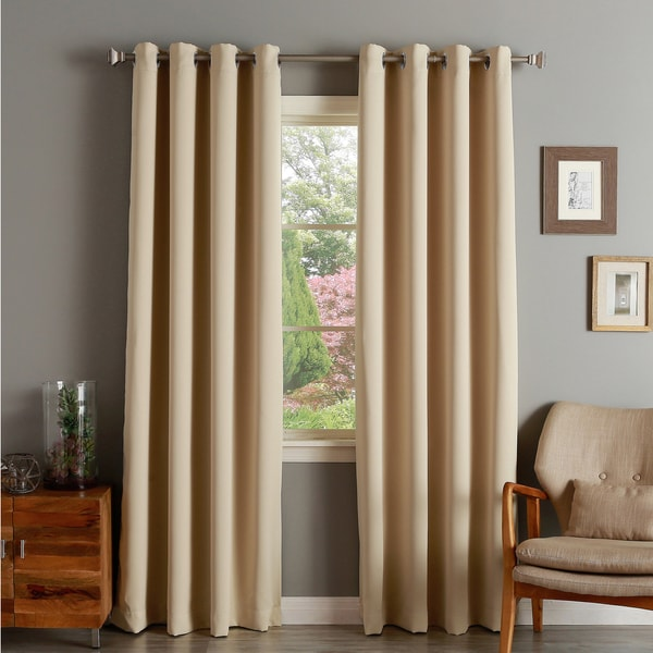 Aurora Home Silver Grommet Top Thermal Insulated 96 Inch Blackout Curtain Panel Free Shipping