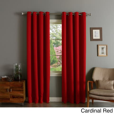 Aurora Home Silver Grommet Top Thermal Insulated 96-inch Blackout Curtain Panel - 52 x 95 - 52 x 95