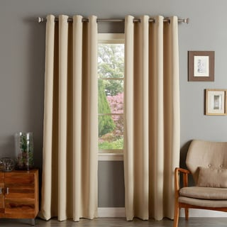 Aurora Home Silver Grommet Top Thermal Insulated 95-inch Blackout Curtain Panel Pair